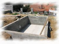 stavební připrava  pro bazény